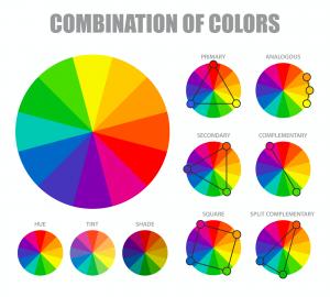 สีของรูปติดผนังห้องนอน
