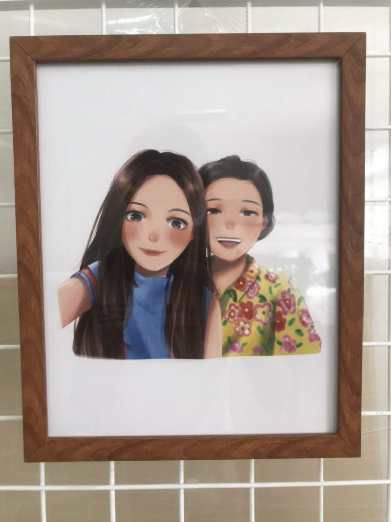 กิจกรรม ของขวัญวันแม่ วาดรูปคู่