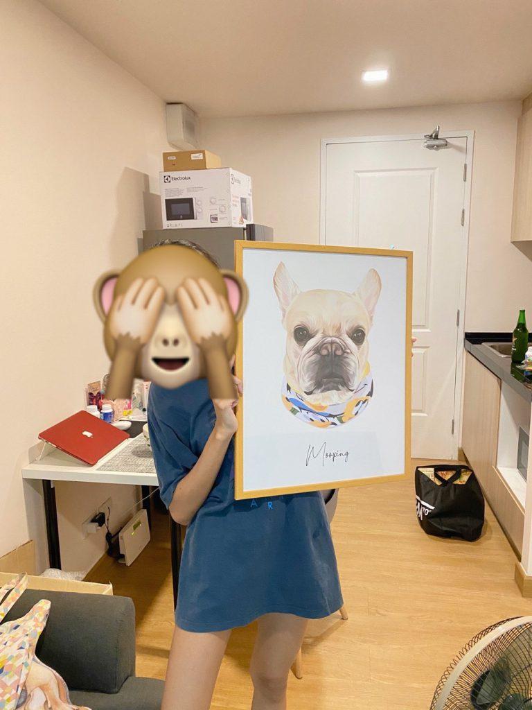 dog lover gift draw portrait